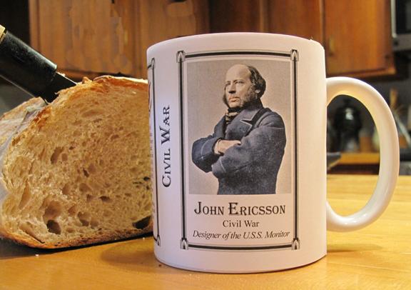 Ericsson Civil War history mug.