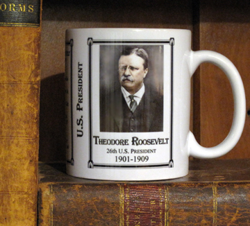 This is our President Theodore Roosevelt history mug.