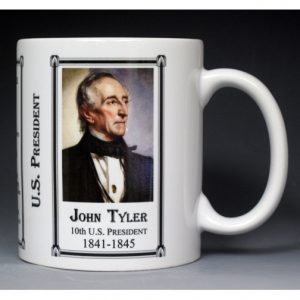 10th US President John Tyler mug