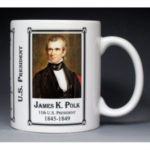 11th US President James Polk mug