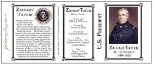 12th US President Zachary Taylor history mug tri-panel.