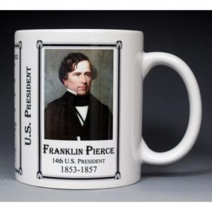 14th US President Franklin Pierce mug