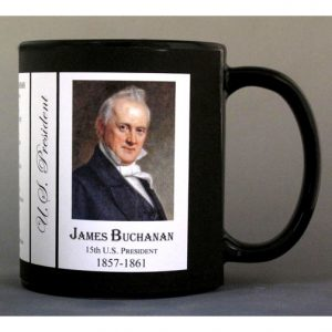 U.S. President James Buchanan history mug.
