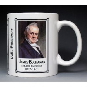 15th US President James Buchanan mug