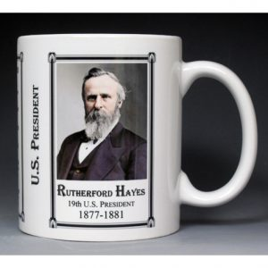 19th US President Rutherford B Hayes mug