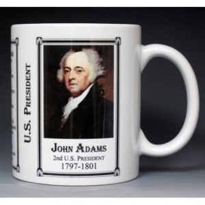 2nd US President John Adams history mug.