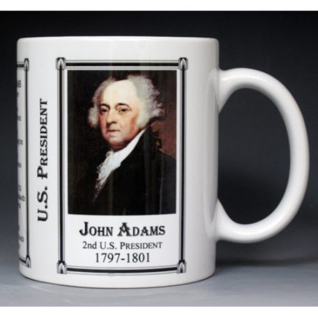 2nd US President John Adams mug