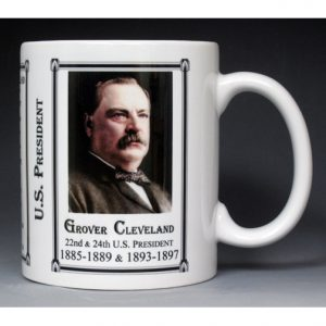 22nd & 24th US President Grover Cleveland mug