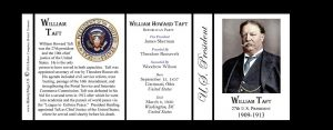 27th US President William Howard Taft history mug tri-panel.