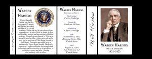 29th US President Warren Harding history mug tri-panel.