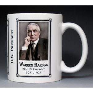 29th US President Warren Harding history mug.