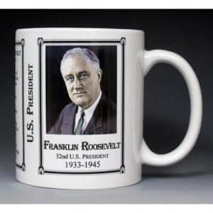 32nd US President Franklin Roosevelt mug
