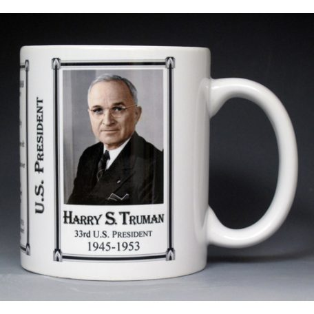 33rd US President Harry Truman mug