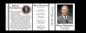 34th US President Dwight D. Eisenhower history mug tri-panel.