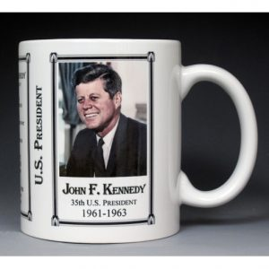 35th US President John Kennedy mug