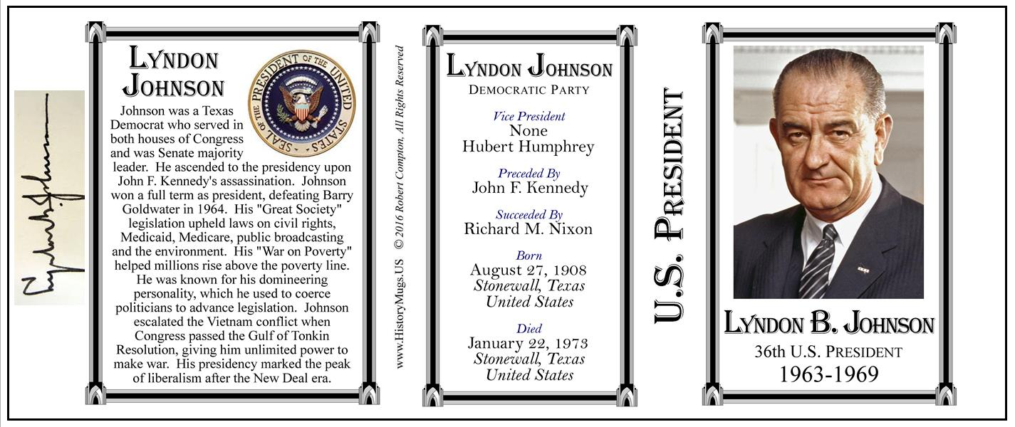 a biography of lyndon b johnson 36th president of the united states of america