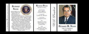 37th US President Richard Nixon history mug tri-panel.