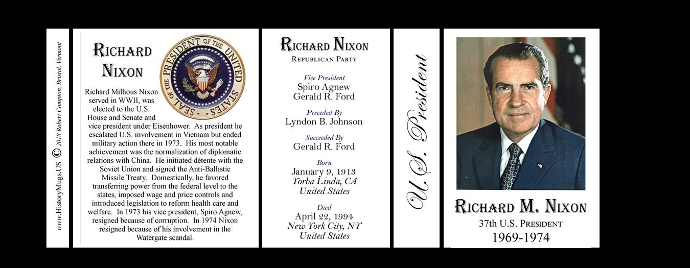 an analysis of the united states president richard milhous nixon 37th president Richard nixon (1913-94), the 37th us president, is best remembered as the only president ever to resign from office richard milhous nixon was born on january 9.