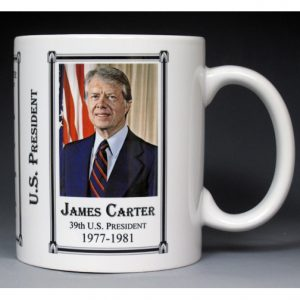 39th US President Jimmy Carter history mug.