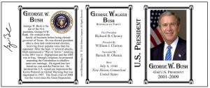 43-Bush, George W.- Tri-Panel-SEAL