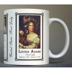 Louisa Adams US First Lady history mug.