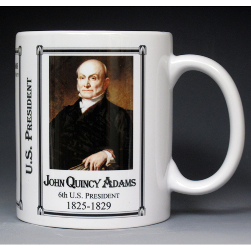 6th US President John Quincy Adams history mug.