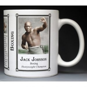 Jack Johnson boxing history mug.