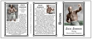Jack Johnson boxing history mug tri-panel.