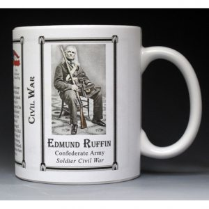 Edmund Ruffin Civil War history mug.