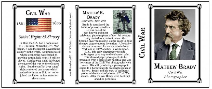 Mathew Brady, Civil War mug tri-panel