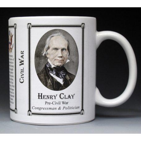 Henry Clay Civil War Union civilian history mug.