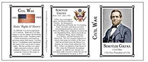 Schuyler Colfax Civil War Union civilian history mug tri-panel.
