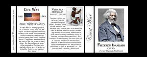 Frederick Douglass Civil War Union civilian history mug tri-panel.