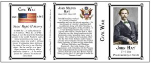John Hay Civil War history mug tri-panel.