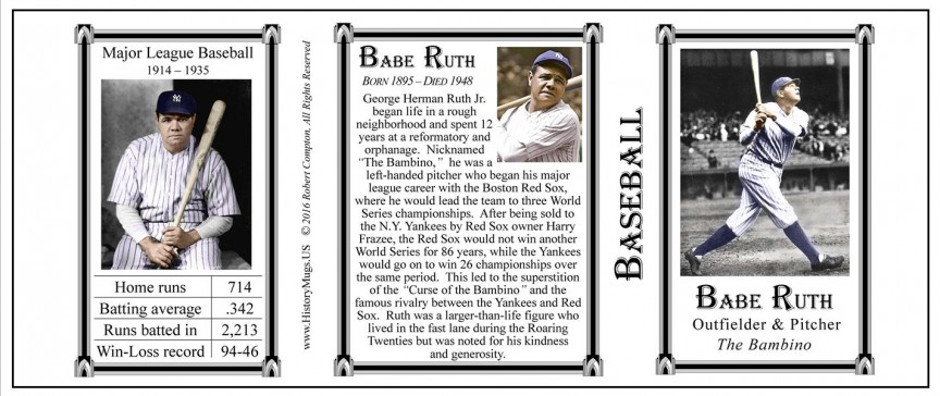 Babe Ruth, Baseball tri-panel