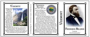 Frederick Billings Vermont history mug tri-panel.