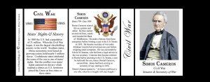 Simon Cameron Civil War Union civilian history mug tri-panel.