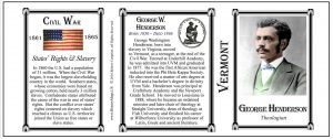 George Washington Henderson Vermont history mug tri-panel.