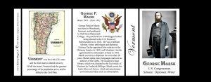 George Perkins Marsh Vermont history mug tri-panel.