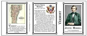 Justin Smith Morrill Vermont history mug tri-panel.