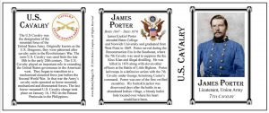 James Porter US Cavalry history mug tri-panel.