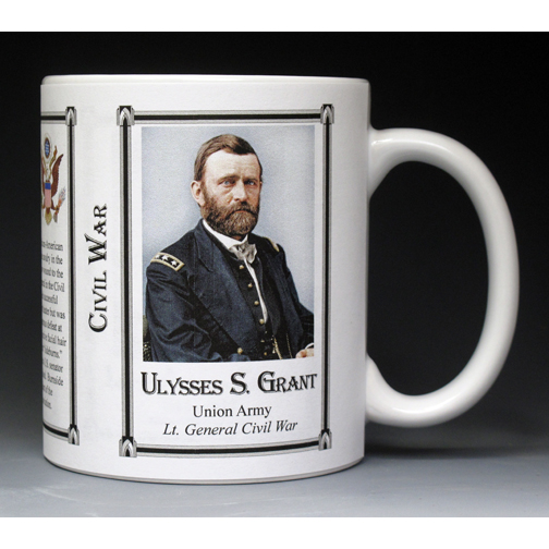 Ulysses S. Grant Civil War Union Army history mug.