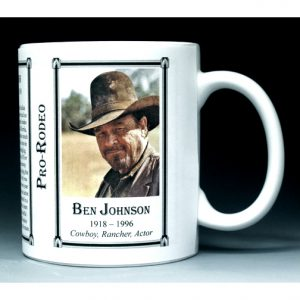 Ben Johnson, actor, rancher and cowboy history mug.