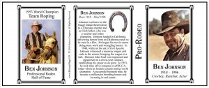 Ben Johnson Pro-Rodeo history mug tri-panel.