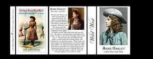 Annie Oakley Wild West history mug tri-panel.