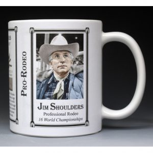 Jim Shoulders, Pro-Rodeo mug