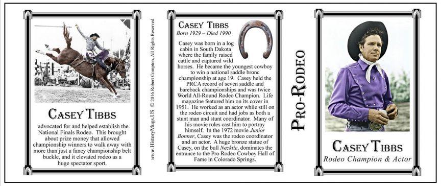 Casey Tibbs history mug tri-panel