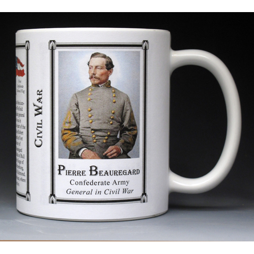 Pierre Beauregard Civil War history mug.
