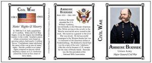 Burnside, Ambrose -Tri Panel-Civil War