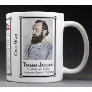 Stonewall Jackson Civil War history mug.